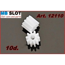 10 TOOTH NYLON PINION