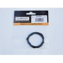 CABLE 1mm. NEGRE SILICONAT