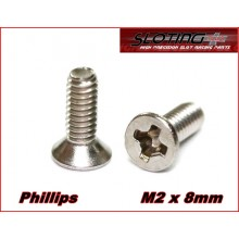 INOX SCREW PHILLIPS M2 x 8