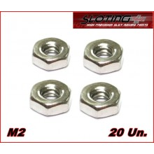 STAINLESS STEEL NUTS M2