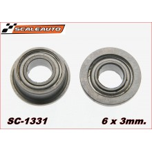 STEEL BALL BEARING 6X3mm FLANGED