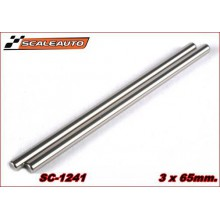 3 X 65MM. RECTIFIED STEEL AXLE