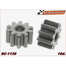 STEEL PINION 10 TOOTH. DIAM. 6,35mm.