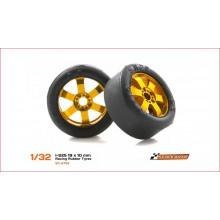 RUBBER TYRES I-S25 19 x 10mm.