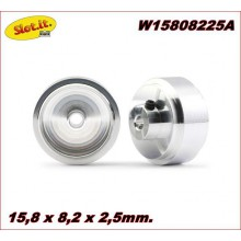 ALUMINIUM WHEELS (15,8 X 8,2 X 2,5mm.)