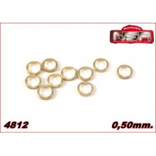 3/32 AXLE SPACERS - 0,50mm.