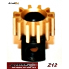 REMOVABLE PINION 6,5 x 12 TEETH BRASS