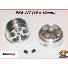 ALUMINIUM WHEELS (19 x 10mm.) (HARDWEIGHT)